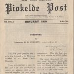 Cover of the first edition of Piokelde Post, January 1946